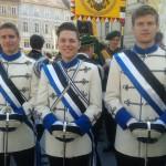 Frohnleichnamsprozession mit Lorenz, Christopher und Janne